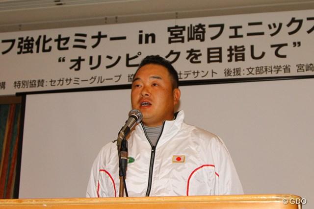 選手会の代表として合宿に挨拶に訪れた小田だが、もちろん自身も五輪出場を狙う