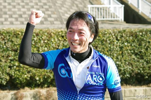 2014年 第1回日本スピードゴルフ選手権 松井丈さん 第1回大会で、18ホールの部、ベストタイム、ベストスコア、総合優勝の三冠を達成した松井丈さん