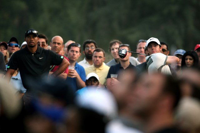 R.マキロイが首位堅守! タイガーは後退し、同組対決2日目は明暗が分かれた(Warren Little /Getty Images)