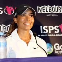 先週の欧州女子ツアー初優勝でメディア熱も一気にヒートアップ。C.ウッズが再び豪州で躍動を見せるか 2014年 ISPSハンダオーストラリアン女子オープン 事前 シャイアン・ウッズ