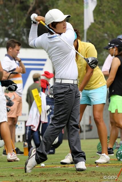 2014年 ISPSハンダオーストラリアン女子オープン 事前 野村敏京 今年は米国ツアー専念!3週間前の開幕戦に続き、今季2試合目へ臨む野村敏京