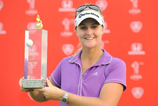 4日間首位を守りきりツアー3勝目を果たしたアンナ・ノルドクビストル(Thananuwat Srirasant/Getty Images)