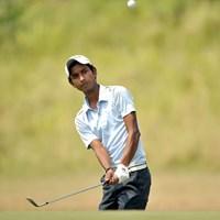 1イーグル、9バーディの「61」で、後続に5打差のロケットスタートを切った地元インドのR.カーン(Asian Tour) 2014年 セイルSBIオープン 初日 ラシッド・カーン