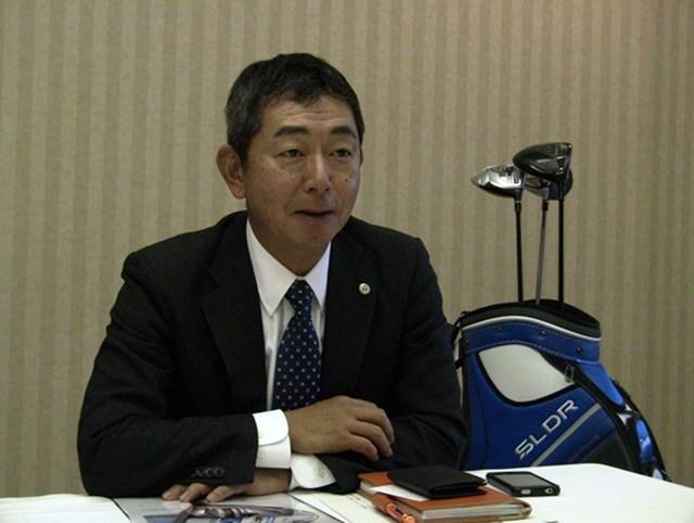 テーラーメイド/10年先のマーケットを見越したゴルフ活性化プロジェクトに着手 ゴルフ活性化のためにゴルフ場を開放するような試みが必要と語る山脇氏