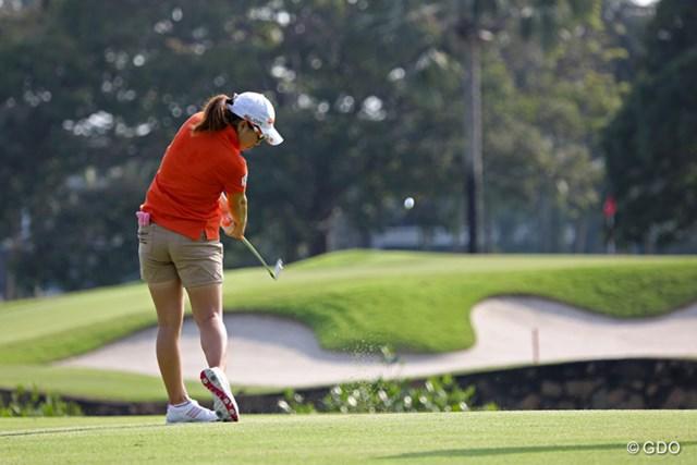 宮里美香は最終日に順位を落としたが、「やっと試合感が戻ってきた」と手応えとともに沖縄へ。