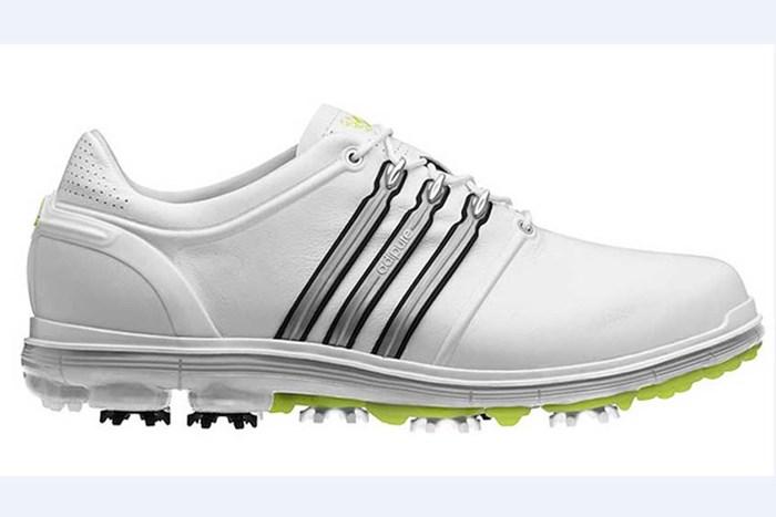 キャデラック選手権でお披露目となったアディダスのニューゴルフシューズ(PGATOUR.COM) 2014年 WGCキャデラック選手権 事前 アディダス pure360