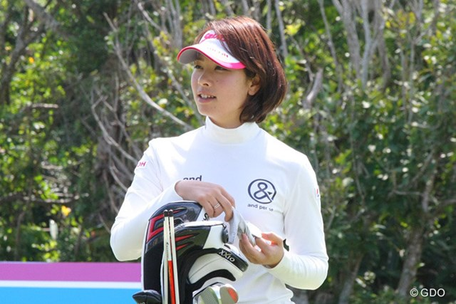 連覇のかかる森田理香子だが気負いなくリラックスムードで開幕戦に臨む