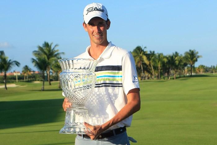 終盤の接戦を制し、嬉しいツアー初優勝を手にしたC.ハドリー(Michael Cohen /Getty Images) 2014年 プエルトリコオープン 最終日 チェソン・ハドリー