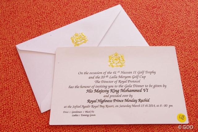 出席者に届く招待状は王家の紋章入り