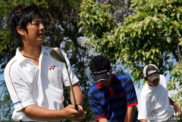 この日一緒にラウンドした石川遼、薗田俊介、伊山祐介の3人