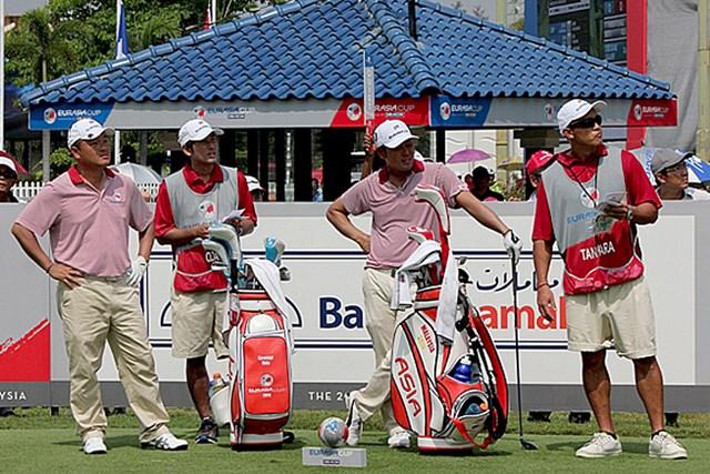 小田孔明と谷原秀人の日本ペアも敗退。全勝の欧州チームに先手を取られる形となった