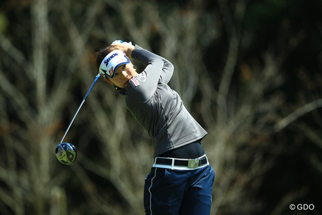 2014年 アクサレディス in MIYAZAKI 初日 森田理香子 決してショットの調子が良いゴルフには見えません。それでもノーボギーのゴルフで4アンダー。これが女王・理香子ちゃんの強さですね