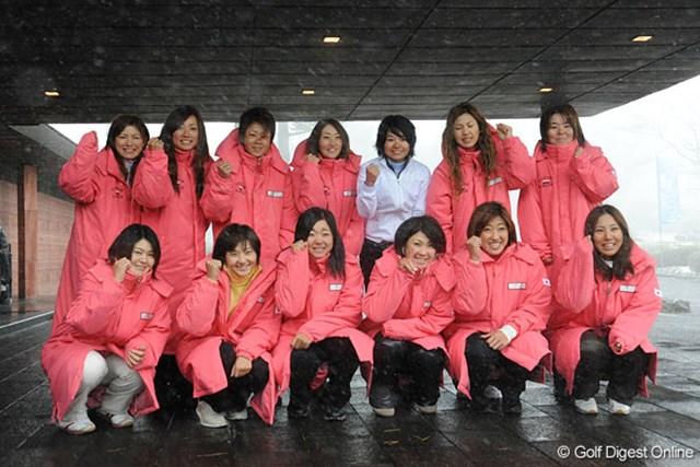 実力者の揃った日本チーム。敵は寒さか。