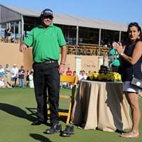 ツアー初優勝を飾ったボーディッチと妻のアマンダ。本当の喜びはまだ先にある 2014年 バレロテキサスオープン 最終日 スティーブン・ボーディッチ