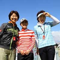 いい3ショットです! 2014年 クラフトナビスコ選手権 事前 小林浩美、横峯さくら・平瀬真由美
