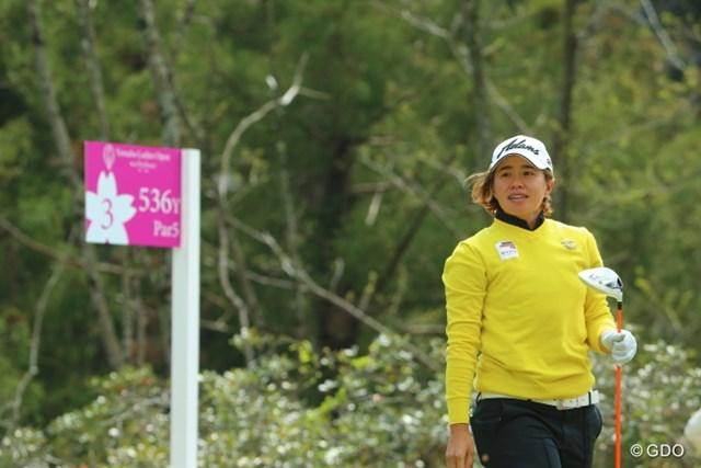 2014年 ヤマハレディースオープン葛城 2日目 O.サタヤ 今季すでに1勝。タイの期待を背負うO.サタヤも、重要なコンテンツだ