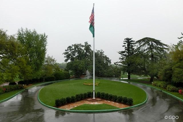 2014年 マスターズ 事前 オーガスタナショナルGC 月曜日の練習ラウンドは悪天候で中止に。11年ぶりにゲートが閉鎖されたオーガスタナショナルGC