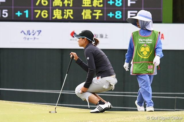 左足にサポーターとテーピングをして9位に食い込んだ森田理香子