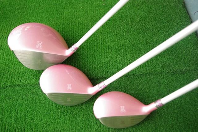 新製品レポート サマンサタバサ レディスゴルフクラブ ヘッド上部のアイミーちゃんを、ターゲット方向に合わせて・・・