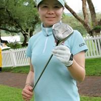 ブリヂストンスポーツと契約を交わした張娜(チャンナ)。W杯女子ゴルフの会場にて撮影 張娜(チャンナ)