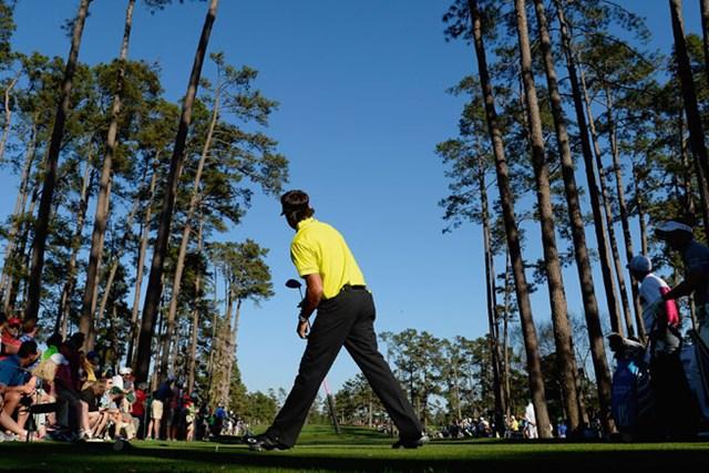 2012年大会覇者のB.ワトソンは首位と1打差、2位につけている(Harry How/Getty Images)