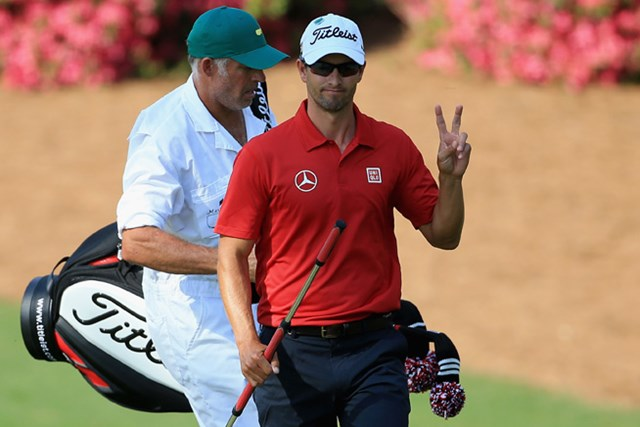 スコットは後半にリズムを取り戻し、好位置をキープして決勝ラウンドに進んだ(David Cannon/Getty Images)