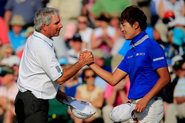 アジアアマのチャンピオン、韓国のイ・チャンウは9オーバーで予選落ち(Harry How/Getty Images)