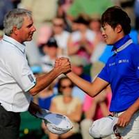 アジアアマのチャンピオン、韓国のイ・チャンウは9オーバーで予選落ち(Harry How/Getty Images) 2014年 マスターズ 2日目 フレッド・カプルス イ・チャンウ