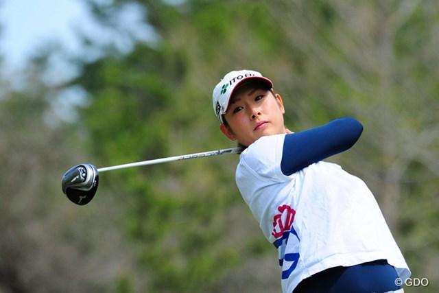 2014年 スタジオアリス女子オープン 2日目 山本亜香里 3位から出た山本亜香里はまさかの予選落ち。初の決勝進出を逃した