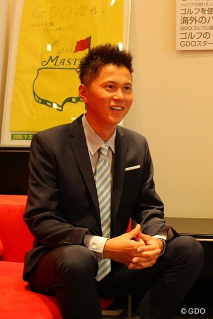 夢は30歳までに「マスターズ」で優勝を果たすことと話す大堀裕次郎