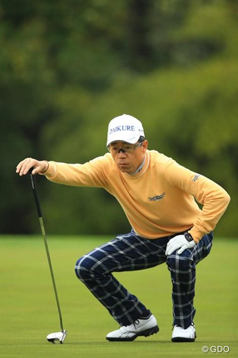 49歳でプロ転向した知る人ぞ知るゴルファー。東建ホームメイトカップでデビューした大堀裕次郎らと同じプロ1年生だ 2014年 東建ホームメイトカップ 3日目 田村尚之
