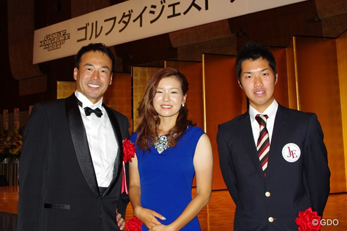 2014年ゴルフダイジェストアワードに出席したプロゴルファー3人衆 2014年 ゴルフダイジェストアワード 南出仁寛 藤田光里 和田章太郎