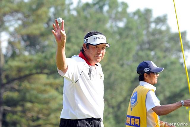 2014年 つるやオープンゴルフトーナメント 事前 尾崎将司 昨年大会の第1ラウンドで尾崎将司は「62」を叩きだした