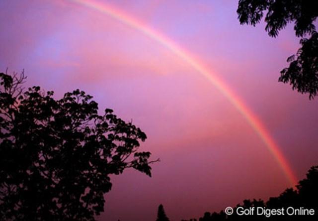 雨上がりに現れた七色の虹が、個性豊かな7人の日本人選手を連想させる