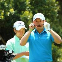 おやおや?もしや内田さん?おひさしぶりーふですね 2014年 つるやオープンゴルフトーナメント 初日 田島創志