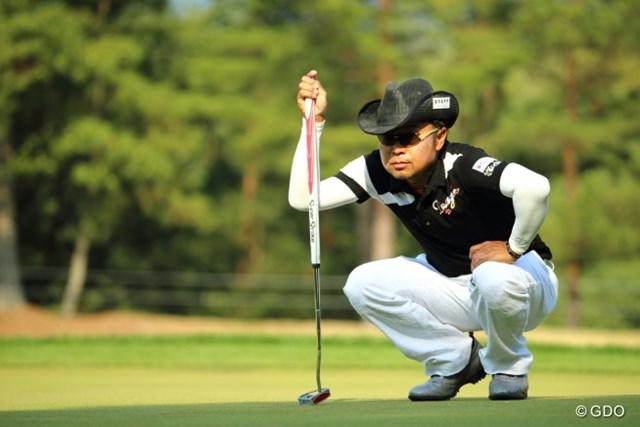 2014年 つるやオープンゴルフトーナメント 2日目 片山晋呉 予選2日間首位をキープした片山晋呉