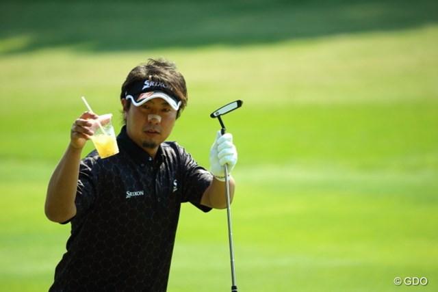 2014年 つるやオープンゴルフトーナメント 2日目 塚田陽亮 カッコつけているのか、おちゃらけているのか、どっちだ!