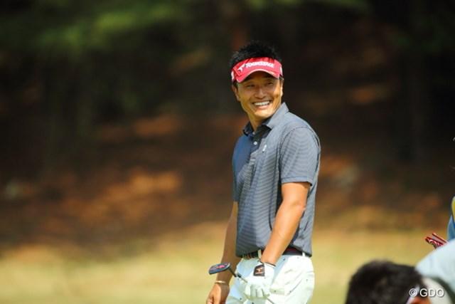 2014年 つるやオープンゴルフトーナメント 2日目 宮本勝昌 この人の笑顔は周りの人達を笑顔にするパワーがある