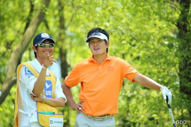 2014年 つるやオープンゴルフトーナメント 3日目 貞方章男 ほらほら撮ってるって!撮ってるって!