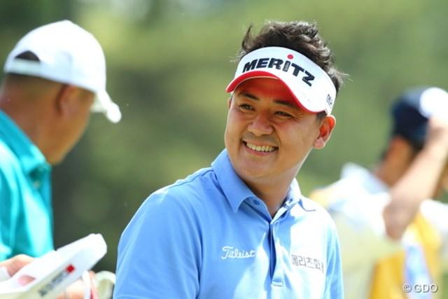2014年 つるやオープンゴルフトーナメント 最終日 パク・サンヒョン 昨年QTを突破して日本ツアーに本格参戦。日韓戦では代表の常連選手だ