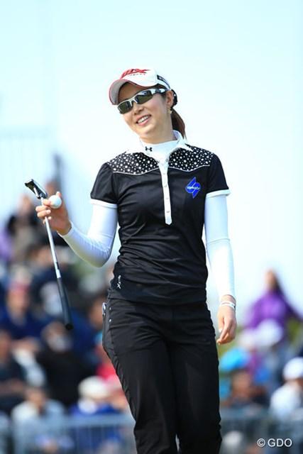 2014年 フジサンケイレディスクラシック 最終日 園田絵里子 痛恨のダブルボギーで4位に後退も自己ベストフィニッシュで3日間の戦いを終えた