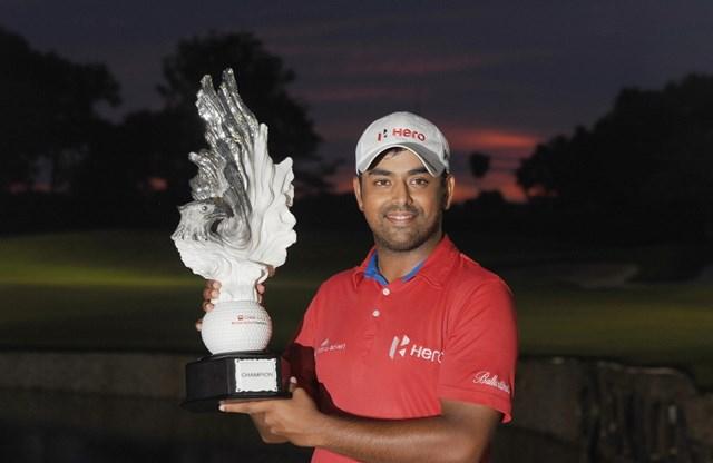 最終18番でイーグルを奪い逆転優勝を果たしたアニルバン・ラヒリ(写真/アジアンツアー)