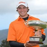 昨年ツアー初優勝を果たした米国のピーター・ユーライン 2014年 マデイラアイランドオープン 事前 ピーター・ユーライン