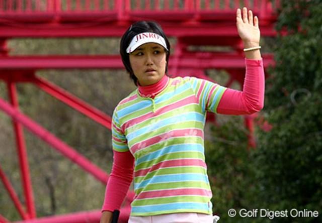 現在、日本ツアーで韓国勢のトップに立つ全美貞。賞金女王の有力候補だ