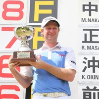 ツアー2戦目にして逆転で初優勝を果たしたピーター・ウィルソン 2014年 プラスワン・福岡雷山チャレンジ  最終日 ピーター・ウィルソン