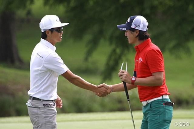 火曜日に練習ラウンドを共にした石川遼と今田竜二