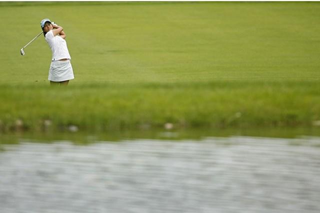 今季初のトップ10フィニッシュとした宮里藍。翌週のメジャーに期待大!(Hunter Martin /Getty Images)