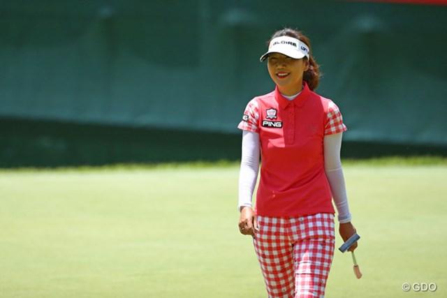 今日は68で回る最高のゴルフでしたね。上がりの笑顔が物語ってる。