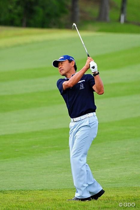 御年63歳。9年ぶりのレギュラーツアーとは思えぬ出入りの激しいゴルフを見せた 2014年 関西オープンゴルフ選手権競技 初日 高橋勝成