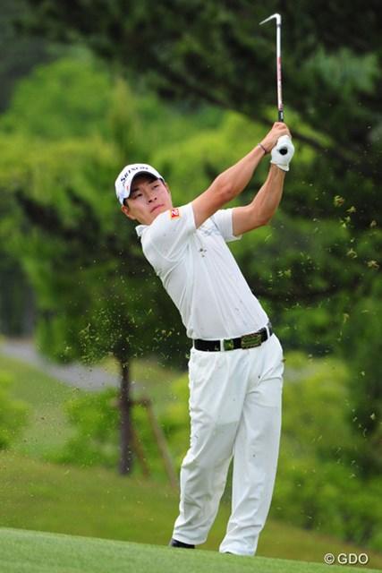 2014年 関西オープンゴルフ選手権競技 初日 藤本佳則 奈良県生まれの藤本は近畿地方での大会に意欲満々。2位発進を決めた。